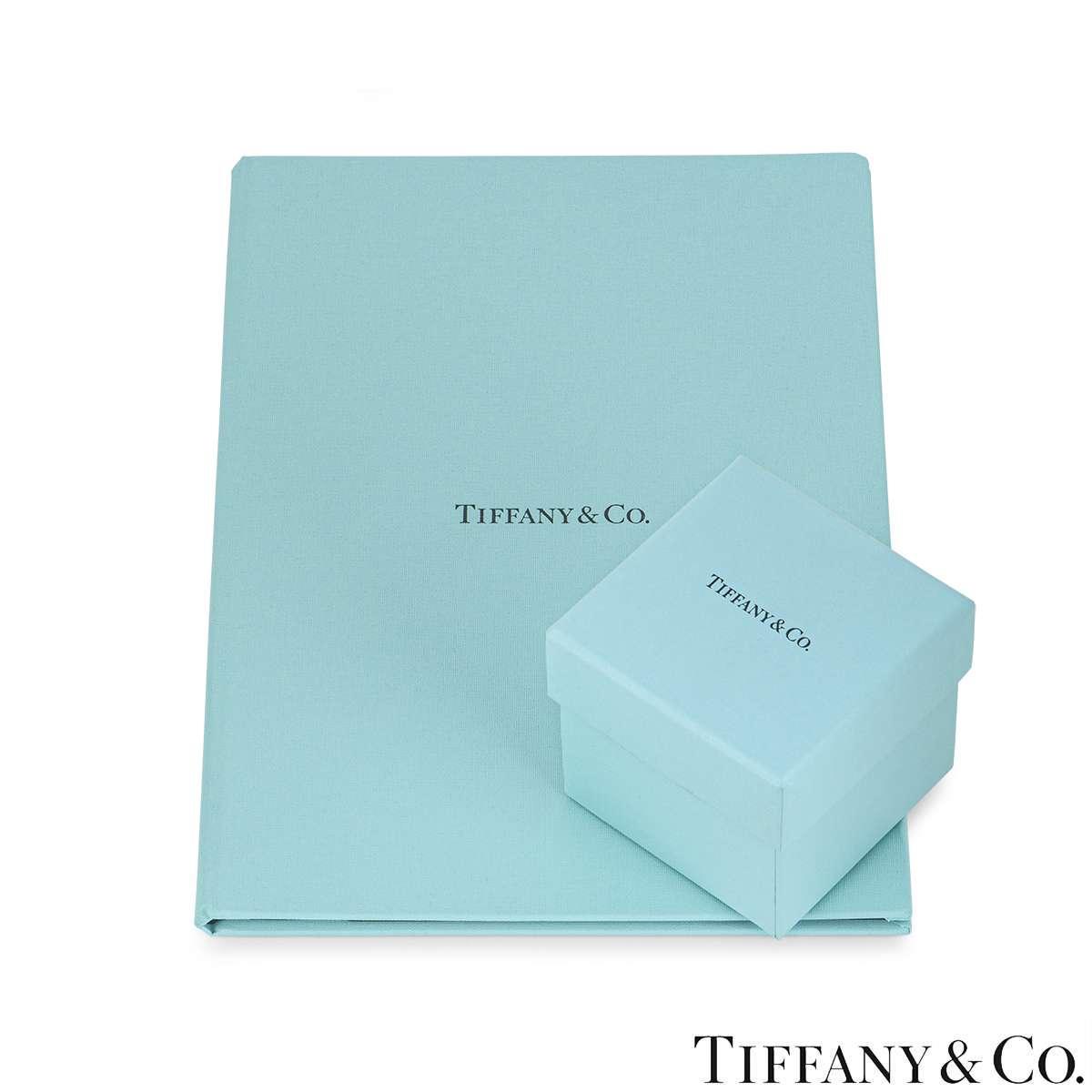 Tiffany & Co. Platinum Diamond Setting Ring 1.07ct E/VVS2
